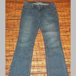 Mid rise stretch blend med blue jeans EUC Old Navy